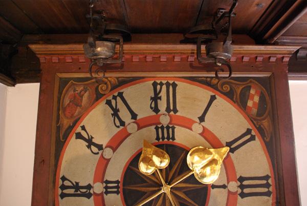 Ziffernblatt Schlafhausgang, Kloster Seligenthal Landshut, Endzustand